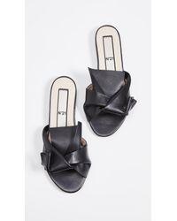 N°21 Knot Sandal Slides - Black
