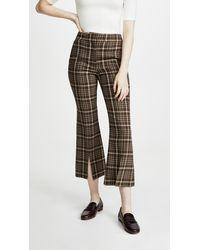 Adam Lippes - Bell Crop Pant With Slit - Lyst
