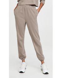 NINETY PERCENT Slim Leg Bell Hem Sweatpants - Multicolour