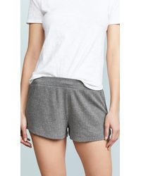 Honeydew Intimates Sneak Peek Waffle Knit Lounge Shorts - Grey