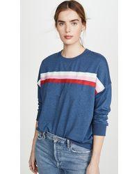 Sundry Oversized Sweatshirt - Blue