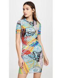 Versace Baroque Print Dress - Blue
