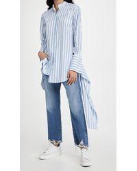 Monse Striped Drawstring Shirt - Blue