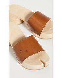 Maison Margiela - Wooden Clog Sandals - Lyst