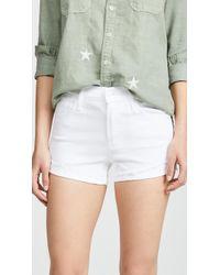 Mother The Rascal Slit Flip Shorts - White