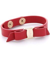 Ferragamo - Vara Bow Single Wrap Bracelet - Lyst