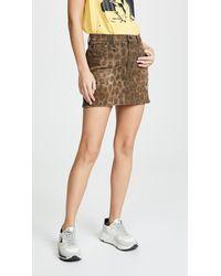 R13 High Rise Miniskirt - Multicolour
