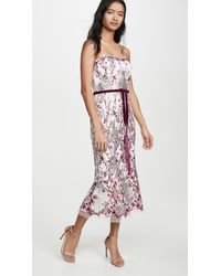Marchesa notte - Strapless Sequin Embroidered Gown - Lyst