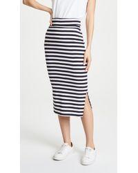 Petit Bateau 1x1 Striped Skirt - Blue