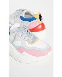 Alice + Olivia Claudine Colorblock Leather Sneakers - Multicolor