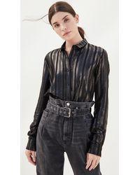 RTA Blythe Button Down Shirt - Black