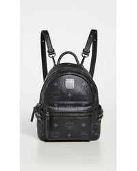 MCM Side Stud Baby Stark Backpack - Black