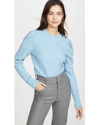 COACH Full Sleeve Crew Neck Sweater - Blue