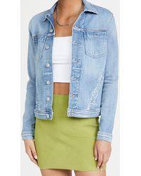 L'Agence Celine Slim Femme Denim Jacket - Blue