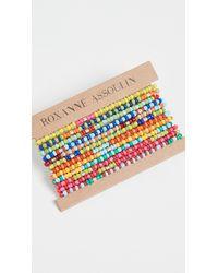 Roxanne Assoulin Patchwork - Set Of Twelve Bracelets - Multicolor