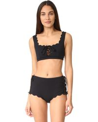 Marysia Swim Palm Springs Tie Top - Black
