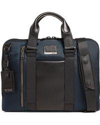 Tumi Alpha Bravo Aviano Slim Briefcase - Blue