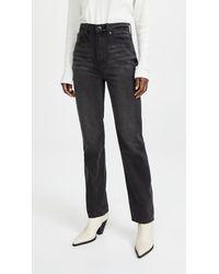 Pistola Denim Cassie Super High Rise Straight Jeans - Multicolour