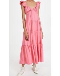 English Factory Ruffle Sleeve Maxi Dress - Pink