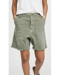 Free People She's A Legend Harem Shorts - Green