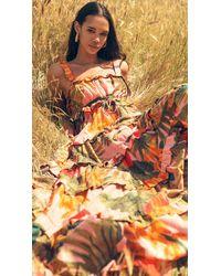 FARM Rio Pink Cocoa Forest Maxi Dress