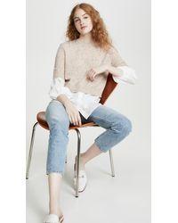 Brochu Walker Ebella Layered Crew Sweater - Natural