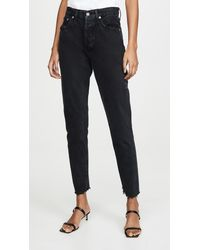 Agolde Jamie High Rise Classic Jeans - Blue