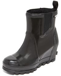 Sorel - Joan Rain Wedge Chelsea Gloss Rain Booties - Lyst