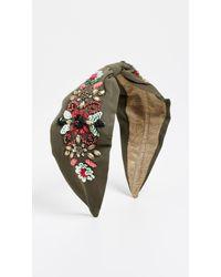 NAMJOSH - Olive Floral Headband - Lyst