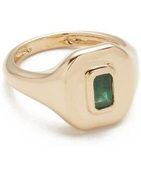 SHAY - 18k Gold Baguette Essential Pinky Ring - Lyst