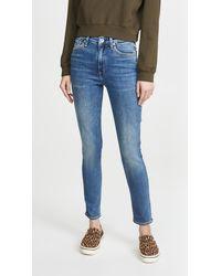 Rag & Bone Nina High-rise Skinny Jeans - Blue