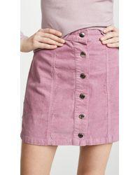 Rag & Bone - Rosie Button - Front Corduroy Mini Skirt - Lyst