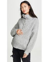 HATCH The Jo Sweater - Gray