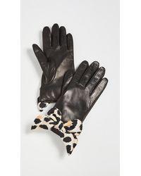Lele Sadoughi Button Hole Gloves With Silk Bows - Multicolor