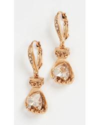 Oscar de la Renta Small Charm Earrings - Metallic