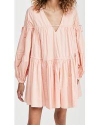 Aje. Overture Gathered Smock Dress - Pink