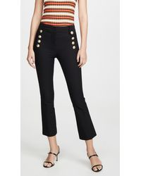 10 Crosby Derek Lam Robertson Cropped Flare Pants With Sailor Buttons - Black