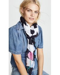 Kate Spade - Blossom Stripe Oblong Scarf - Lyst