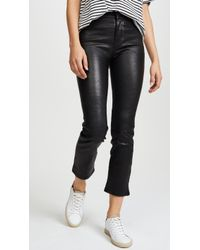 PAIGE - Jacqueline Crop Straight Leather Pants - Lyst