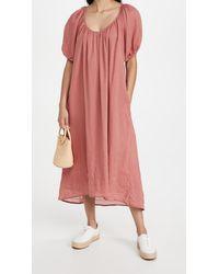 Sundry Bubble Sleeve Maxi Dress - Pink
