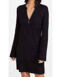 Theory Henley Dress - Black