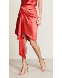 Fleur du Mal - Asymmetric Mini Skirt - Lyst
