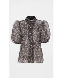 Sister Jane First Rodeo Puff Sleeve Blouse - Black