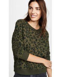 Rails Theo Distressed Leopard-print Jumper - Green