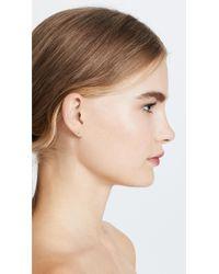 Shashi Mini Ballerina Stud Earrings - Metallic