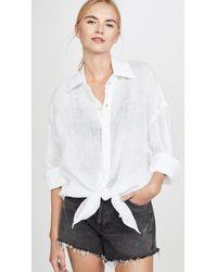 Vitamin A Playa Shirt / Dress - White