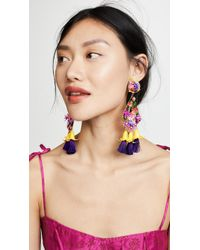 Mercedes Salazar Fiesta Earrings - Multicolour