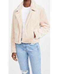Blank NYC Faux Fur Jacket - Multicolour