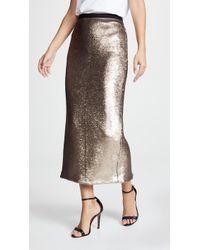 Cinq À Sept Paula Sequin Midi Skirt - Multicolour
