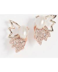 Alexis Bittar - Crystal Encrusted Freshwater Cultured Pearl & Petal Clip On Earrings - Lyst